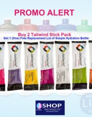 Two Tailwind Stick Pack + Free Simple Hydration Lid Bottle