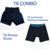 T8 Combo: Men's Shorts and Commando Running Underwear