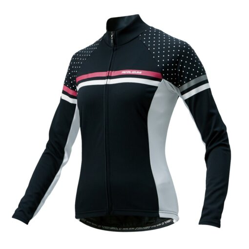 Pearl Izumi Women's Jersey – Full Sleeve Black Pin Dot